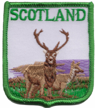 Scotland Red Deer Stag Embroidered Badge (a324)